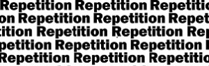 Repetition is a friend for marketing and sales