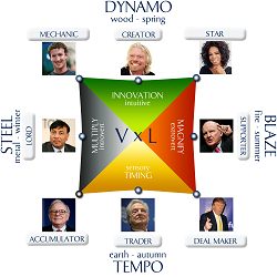 Wealth Dynamics Square with Celebrity Personalities