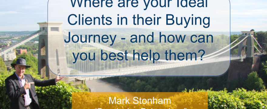 Where are your Ideal Clients in their Buying Journey Mark Stonham Rainmaker Briefing