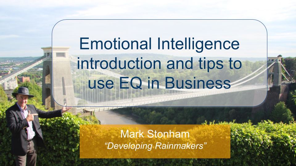 Emotional Intelligence - tips to use EQ in Business Mark Stonham Rainmaker Briefing