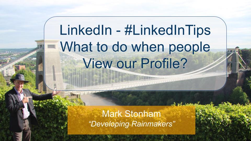 LinkedIn Profile View Follow up